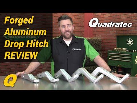 Quadratec Forged Aluminum Drop Hitch Ball Mount