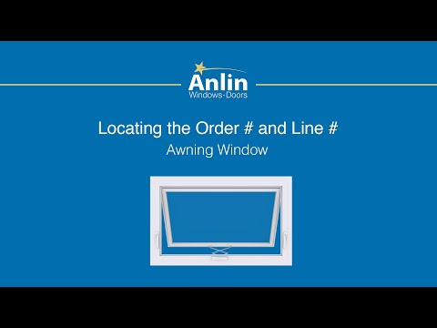 Locating the Order Number on Your Anlin Awning Window