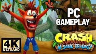 Crash Bandicoot N. Sane Trilogy PC Gameplay 4K 60fps