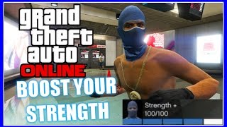 GTA 5 Online - Best Method How To Boost Your Strength In Freemode