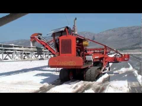 Salt harvesting in Messolonghi, Greece