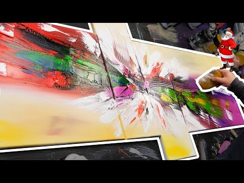 Speed Art Abstract Painting Demo Acrylics | Alegria