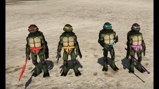 GTA 5 - Ninja rùa giải cứu đồng đội khỏi bọn mặt troll   GHTG