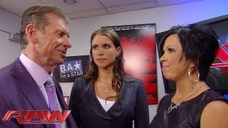 The McMahons disagree over Vickie Guerrero's handling of Raw: Raw, June 17, 2013