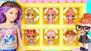 Neon QT Visits Skipper Barbie Pets Shop + Lil Sisters lost - Confetti Pop Season 2 Episode Unboxed!