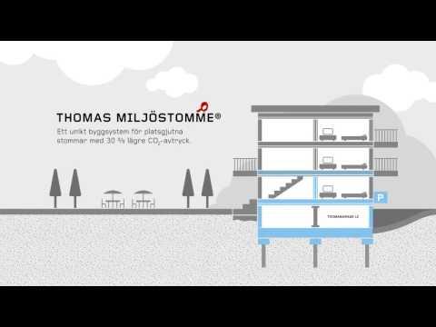 Thomas Miljöstomme ett unikt byggsystem med 30% lägre CO2-avtryck
