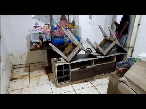 Temporal causa destruição e desespero em Marília