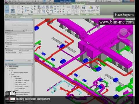 Revit  PLACE SUPPORTS From BIM-ME