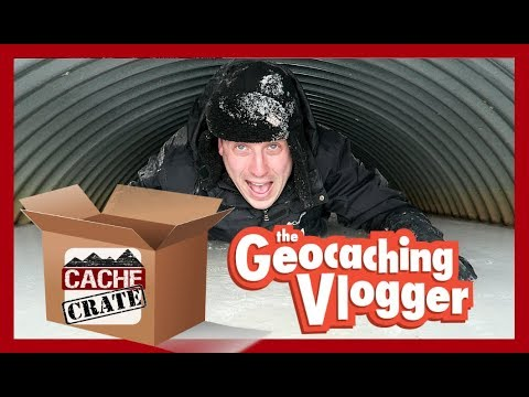 GEOCACHING WITH CACHE CRATE SWAG! (Unboxing)