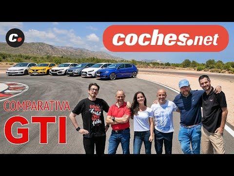 COMPARATIVA GTI 2019 | Civic Type R, i30 N, Megáne RS, León Cupra R, Golf TCR, 308 GTi | coches.net