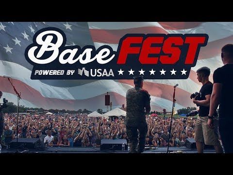 Watch our MISSION VIDEO.  BaseFEST Powered by USAA is a Festival Experience for Everyone, brought to Military Bases Worldwide, featuring Live Music, Technology, Sports & Fitness, Gaming, Kids Zone, Shopping & Merch, Food & Beverage, Virtual Reality & MORE!