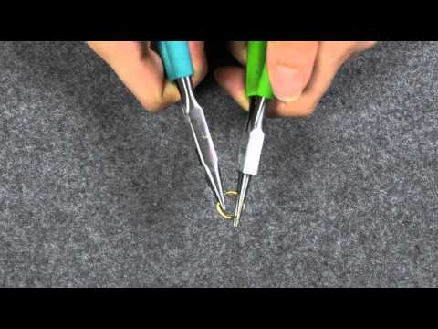 Project DIY's How To Open jump rings with a flat plier and round tip plier