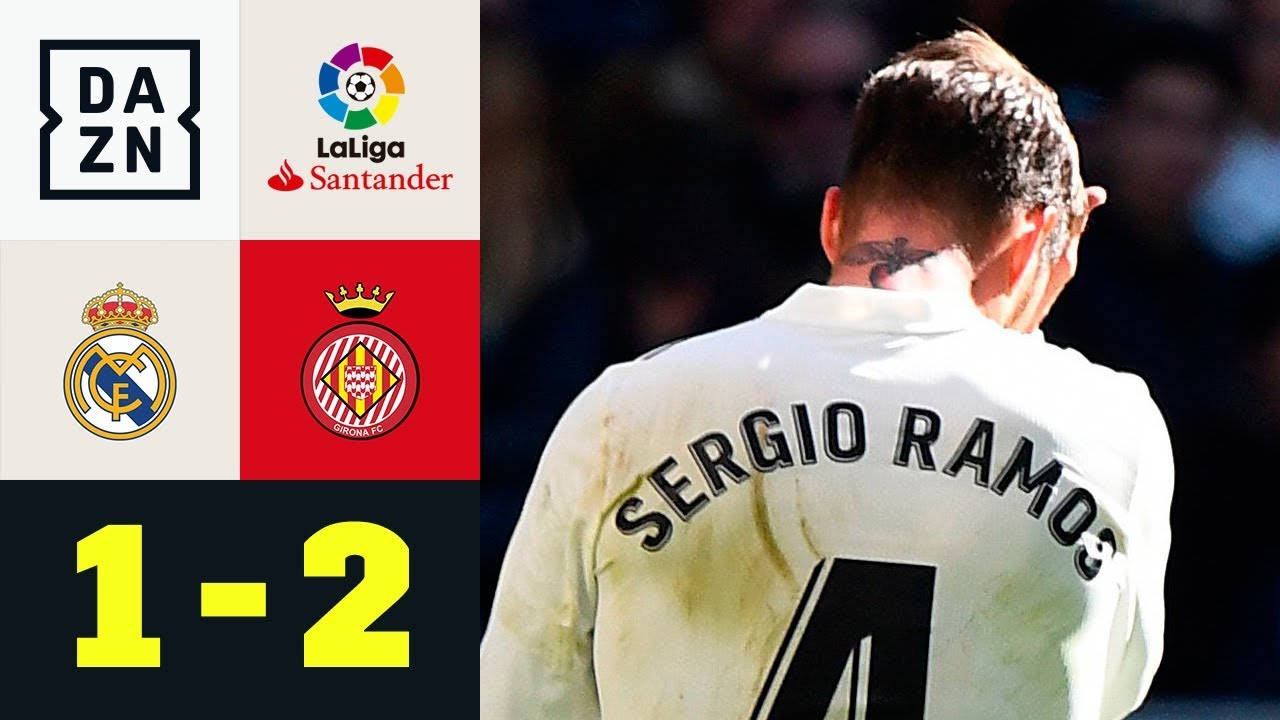 Sergio Ramos fliegt bei Real-Pleite vom Platz: Real Madrid - Girona 1:2 | La Liga | DAZN Highlights