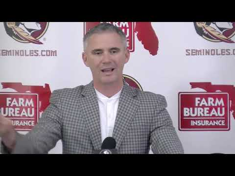 Florida State head football coach Mike Norvell on team's offseason weight gain, improvement