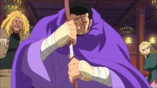 The new blind Admiral Fujitora (Issho) showing his power and recognizes Luffy  Episode 631
