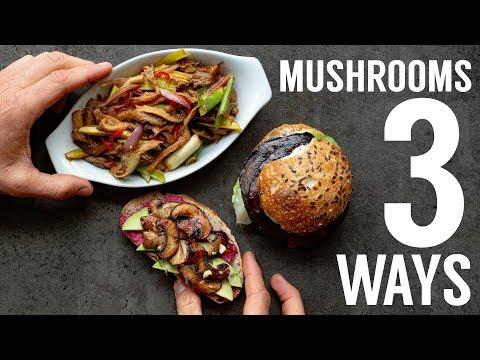 EPIC MUSHROOMS 3 WAYS | HOW TO COOK VEGAN | THE HAPPY PEAR
