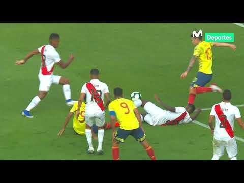 Perú vs. Colombia 0-1  así fue el polémico gol de Mateus Uribe