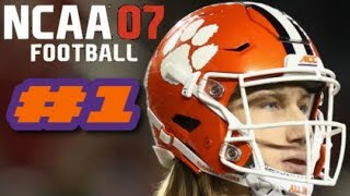 NCAA Football 07 PS2 Gameplay 2019 Clemson Tigers Ep.1 (First Game vs Ohio State)