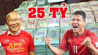 Choa'ng Trước Số Tiền Tuyển Việt Nam Được Thưởng Lên Tới 25 Tỷ Nhưng Phải Chuyển Cả Về VFF ?
