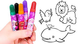 Learn the colors 🎨 Learning colors and coloring in Animal Pictures | Coloring Book