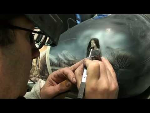 indian native airbrush painting harley davidson video apprendre peindre l 39 a rographe youtube. Black Bedroom Furniture Sets. Home Design Ideas