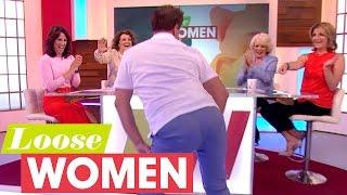 John Barrowman Slut Drops In Heels And Demonstrates Men's Uplifting Underwear! | Loose Women