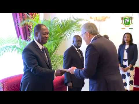 Lettres de créance de l'Ambassadeur de l'Etat de Palestine en Côte d'Ivoire, ce 14 mai 2018