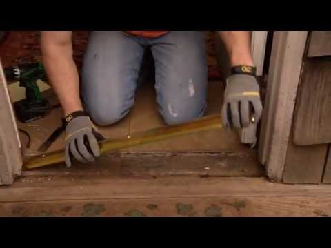 How to Remove a Door Threshold & How to Install an Aluminum Door Threshold with a Vinyl Seal