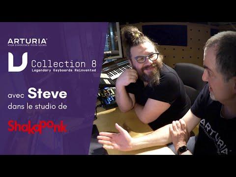 Vidéo ARTURIA V-COLLLECTION 8 avec STEVE de SHAKA PONK décortiquée en studio (La Boite Noire)