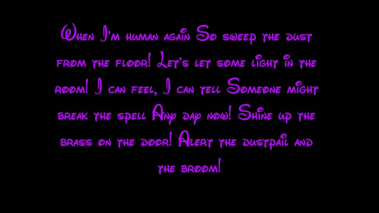 Human Again - Beauty And The Beast Lyrics HD - YouTube