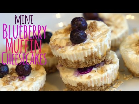 High Protein Mini Blueberry Muffin Cheesecakes