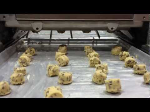 Chocolate Chip Cookies (5oz) ran through Handy V Cookie Depositor