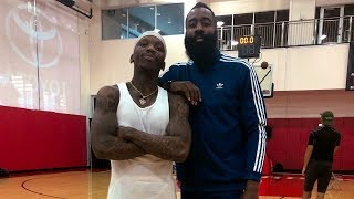 Bone Collector Teaches James Harden New Move with Professor, T Jass, and Marcelas Howard