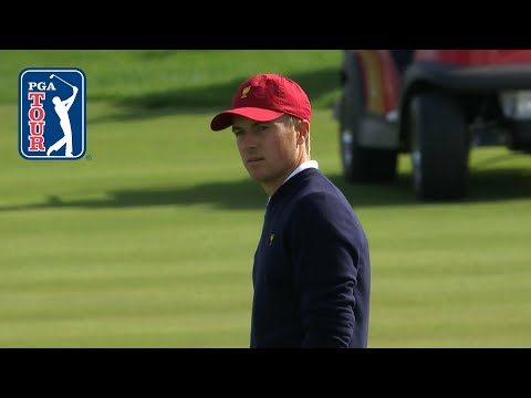 Jordan Spieth nearly eagles No. 15 at the Presidents Cup