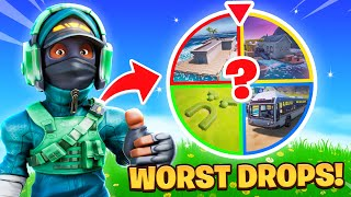 The *WORST* DROP SPINNING WHEEL Challenge!
