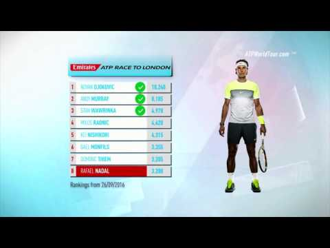 Emirates ATP Race To London Update 27 September 2016