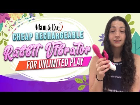 Cheap Rechargeable Rabbit Vibrator for Unlimited Play! Adam and Eve Sex Toy's Best Rabbit Vibe