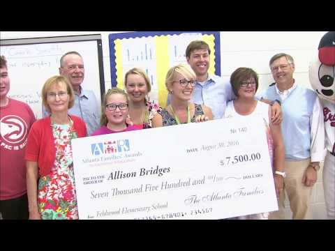 Allison Bridges Wins The Atlanta Families Award For Excellence in Education