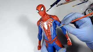 Marvel's Spider-Man PS4 Statue Painting | Crafty Art #SpiderMan