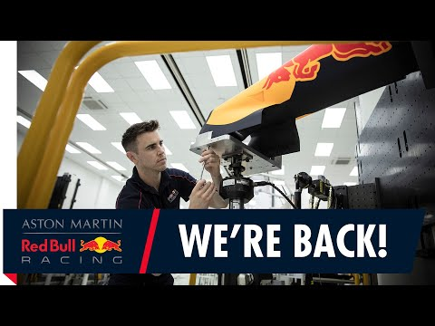 We're back at the Red Bull Racing factory and ready to Charge On!