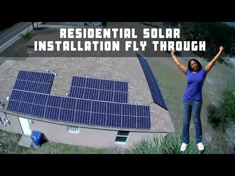 Drone Shots of Residential Solar Installation by Energy Professionals