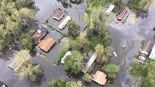 Aerial footage of flooding, damage in N.C.