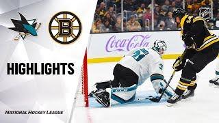 NHL Highlights | Sharks @ Bruins 10/29/19