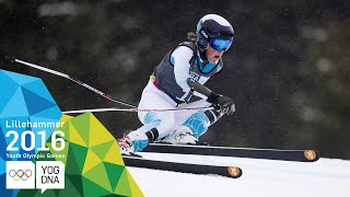 Super-G - River Radamus (USA) wins Men's gold | Lillehammer 2016 Youth Olympic Games