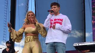 Louis Tomlinson and Bebe Rexha- Back to You at the iHeart Daytime Village in Las Vegas 9/23/17
