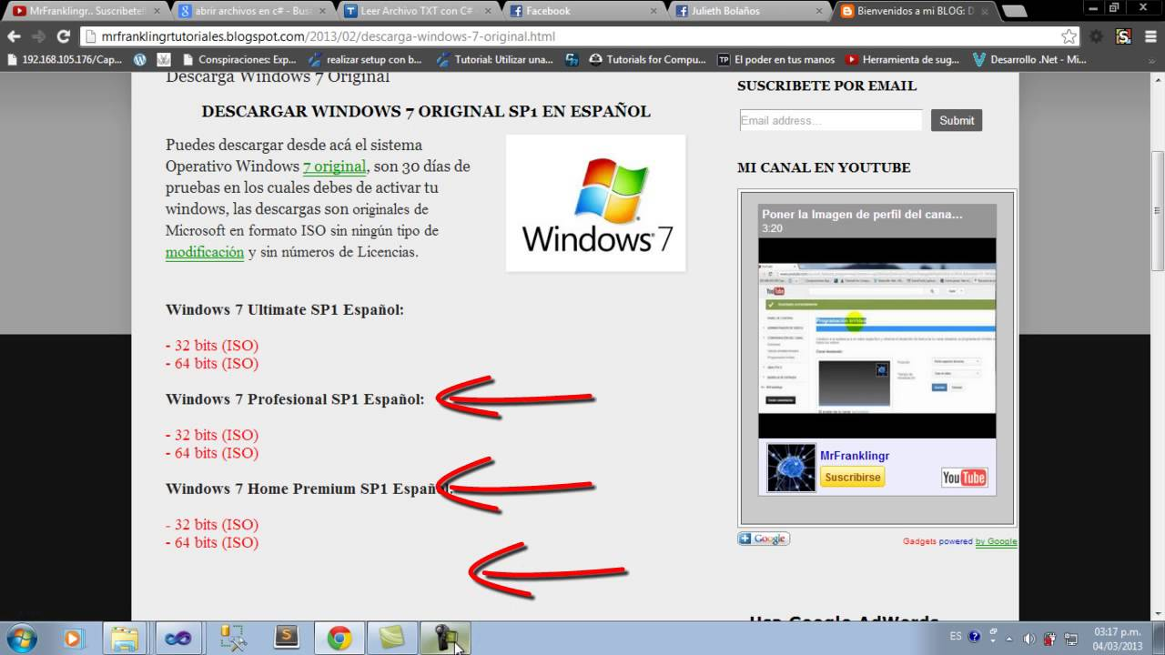 descargar iso windows 7 64 bits 1 link