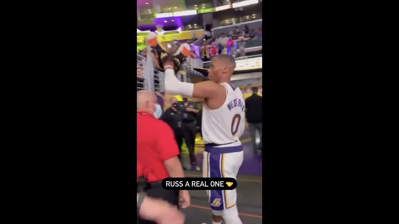 Russell Westbrook Slaps Away Older Fan's Hands To Make Sure A Kid Got His Shoes 😭 #Shorts