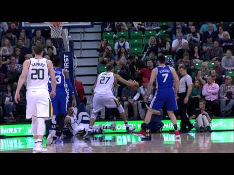 Rudy Gobert Slams Down the Poster Dunk Against the 76ers | 12.29.16