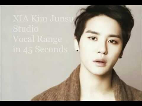XIA Kim Junsu - Studio Vocal Range in 45 Seconds