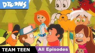 Team Teen - Cartoon Heroes Unite | All Episodes So Far | Ultimate Cartoon Crossover by Dtoons